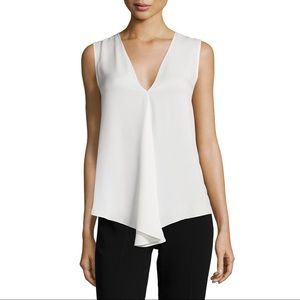 Theory | Meighlan Classic Silk Top, White, M